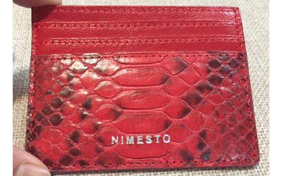 The first Nimesto card holder prototype